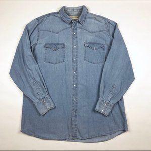 🌵 Bit & Bridle Long Sleeve Pearl Snap Shirt 2XT